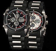 New fashion men's business double movement movement waterproof anti fall large dial watches LCD BWL813