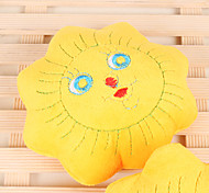 Plush Squeak Flower Shape Pillow Chew Toy for Little Dogs