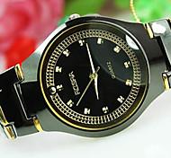 Men's Explosion Round Dial Steel Strap Fashion Business Quartz Watch