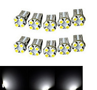 Luces Decorativas Decorativa Ding Yao T10 1.5W 4 SMD 3528 100-150 LM Blanco Fresco DC 12 V 10 piezas
