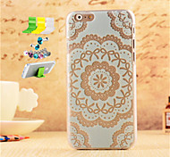 Round Printing Pattern Striae PC Protective Shell And Dust Plug Bracket Assembly for iPhone 6