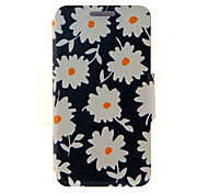 For HTC Case with Stand / with Windows / Flip Case Full Body Case Flower Hard PU Leather HTC