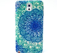 The Peacock Flower Pattern TPU Soft Case for Samsung Galaxy Note3 N9000