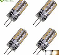 LED a pannocchia 48 SMD 3014 SENCART T G4 3W Decorativo 280-320 LM Bianco caldo / Luce fredda 4 pezzi DC 12 / AC 12 V