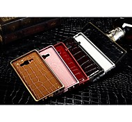 Luxury Leather Grain Back Metal Bumper Case Cover Samsung Galaxy A3