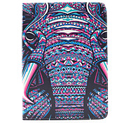 The Elephant Pattern PU Leather Case Cover with Stand and Card Holder for iPad Air