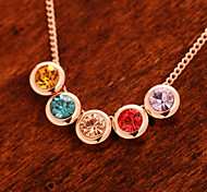 High-quality Colorful Diamond Gold Plating Color Retention Necklace