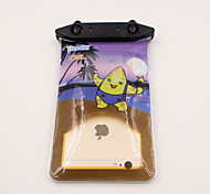 Universal 6 Inch Cartoon PVC Waterproof Phone Case 10 Meters Underwater Phone Bag Pouch Dry No.015 (All Models)