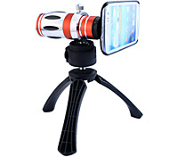 Telescope 12.5X Zoom Telephoto Manual Focus Long Focal Camera Lens with Back Case and Tripod for Samsung Galaxy S3 I9300