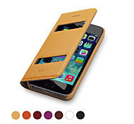 GGMM ® couro genuíno caso de corpo inteiro com Double Windows para IPhone5/5s (cores sortidas)