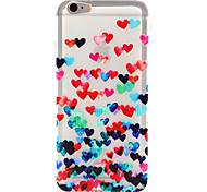 Love Pattern TPU Relief Back Cover Case for iPhone 6