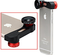 Apexel 180 Degree Fisheye Lens + Wide Angle Lens + Macro Lens 3-in-1 Camera Lens Kit for iPhone 6 Plus(Assorted Color)