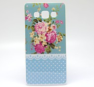 Blue Peony  Pattern TPU Soft Cover for Samsung Galaxy A5
