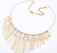 European Style Fashionable Tassel Short Necklace