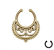 Punk Stainless Steel  Hollow Out Nose Ring Body Jewelry Piercing