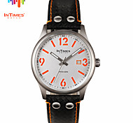 InTimes IT-1066L  2015 New whatch Big Number Steel Case Leather Strap Men Watches