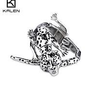 Kalen Men's Jewelry Stainless Steel Antique Style Leopard Charming Bracelet