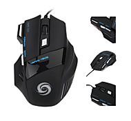 2015 vendita calda mouse da gioco 5500 dpi 7 pulsanti LED USB a filo di gioco mouse ottici del mouse per pro gamer