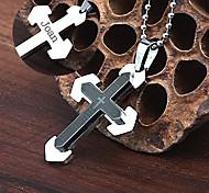 collar de la joyería colgante grabado biblia en forma de cruz de acero inoxidable regalo personalizado