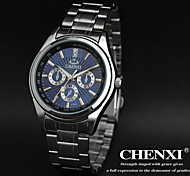 CHENXI® Men's Simple Design Dress Watch Japanese Quartz Water Resistant Silver Steel Strap