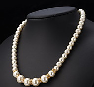 U7® Pearl Necklace 18K Gold Plated Fashion Jewelry for Women Rhinestone Crystal Beaded Necklace