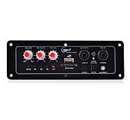 karaoke diy placa do módulo amplificador mic com slot fm / usb / sd card (preto)