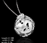 Charming Silver Round Shape Hollow Out  Pendents