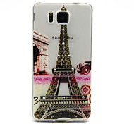 Eiffel Tower Pattern with Bling Diamond TPU Soft Back Cover Case for Samsung Galaxy Alpha G850