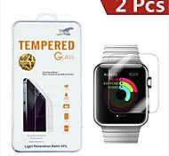0.3mm 9H Damage Protection Tempered Glass Screen Protector for Apple Watch 42mm (2PCS)