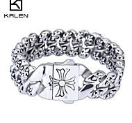 Kalen 2015 Men's Jewelry Unique Design Cheap Steel Casting Imitation Ivory Jewelry Bracelet
