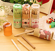 Mini Animal Pattern 12 Color Pencil Set(12 PCS/Set)