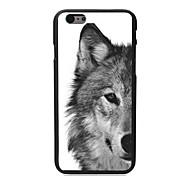 el caso duro de diseño lobo PC para el iphone 6