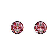 Cute Enamel Skull Stud Earrings