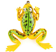 Soft Lifelike PVC Rubber Frog Style Fishing Baits - Yellow (3.5g / 40mm)