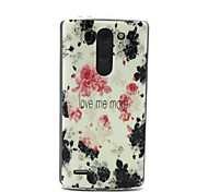 Love Me More Paint Rose Pattern 0.6mm Ultra-Thin Case for LG G3 Beat/G3 Mini D728/D729/D722