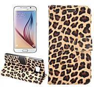 Para Funda Samsung Galaxy Soporte de Coche / con Soporte / Flip Funda Cuerpo Entero Funda Estampado Leopardo Cuero Sintético para Samsung