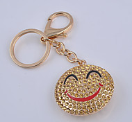 The Key Hang Point Drill Smiling Face Key Chain