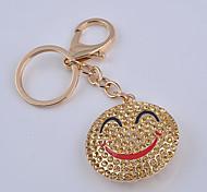 la touche point d'accroche forage sourire chaîne de clé de visage