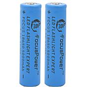 4.2v poder foco 5000mah 18650 batería de iones de litio recargable (2pcs)