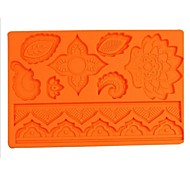 Fashion Silicone Fondant Cake Lace Mold Chocolate Decorating Pat Kitchen Bakeware Cooking Tools (Random Color)