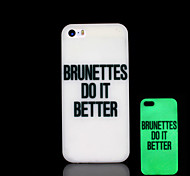 Phrase Pattern Glow in the Dark Cover for iPhone 4 / iPhone 4 S Case