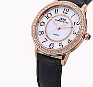 Frauen wasserdichte Armbanduhr Quarz analog