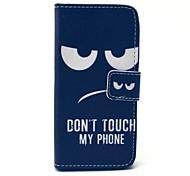 não toque meu padrão de telefone estojo de couro pu com slot para cartão e stand para Samsung Galaxy S4 mini-i9190