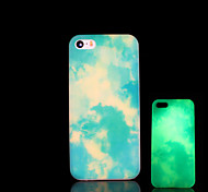 Clouds Pattern Glow in the Dark Cover for iPhone 4 / iPhone 4 S Case