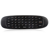 Wireless 2.4GHz Double Sided Multifunctional Remote Controller with Air Mouse & Keyboard - Black
