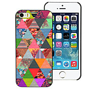 Triangle Flower Design PC Hard Case for iPhone 4/4S