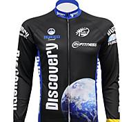 REALTOO Bicicleta/Ciclismo Camiseta/Maillot / Tops Hombres Mangas largas Transpirable / Resistente a los UV EspándexClásico / Naturaleza