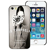 Be Yourself Design PC Hard Case for iPhone I4