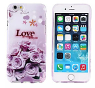 Love and Rose Pattern TPU Soft Cover for iPhone 6
