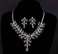 Wedding Bridal Earring Necklace Jewelry set With Rhinestone/Crystal